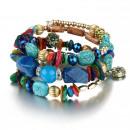 Großhandel Schmuck & Uhren: Handgelenk Armband interlaced Stones Farbe B35