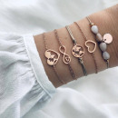 Großhandel Schmuck & Uhren: Armband 5in1 geflochtene Schönheit B328