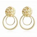Hanging earrings gold K1139