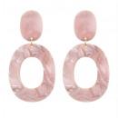 K1133R plastic hanging earrings