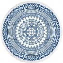 towel BEACH ROUND BOHO MANDALA BLUE REC35WZ4