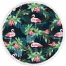 towel beach round BOHO flamingos REC35WZ50