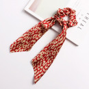 Elastic hair scarf long red PIN UP GUM7