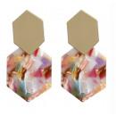 wholesale Earrings: EARRINGS plastic straight K1156KOL