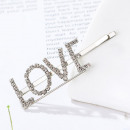 Hair clip with crystal LOVE SP84S inscription