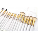 A set of 18 makeup brushes in a case PZ26