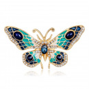 wholesale Beads & Charms: Butterfly brooch with crystal BZ2