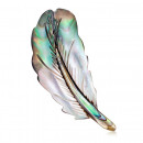 wholesale Beads & Charms: Brooch Mother of pearl Leaf BZ3