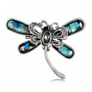 wholesale Beads & Charms: Silver dragonfly brooch BZ7