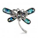 Großhandel Beads & Charms: Silberne Libellenbrosche BZ7