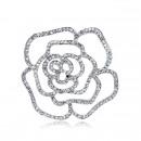 Brooch rose in silver BZ28