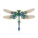 groothandel Sieraden & horloges: Groene libelle broche BZ35