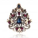 grossiste En perle et Charme: Broche décorative rosette BZ37