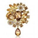 Großhandel Beads & Charms: Brosche Rosette Jet Brown BZ15