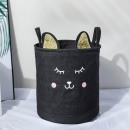 Container for toys basket, laundry bag black k