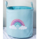 A container for a toy basket, a unicorn laundry ba