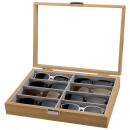 Casket 8 compartments for glasses or PD accessorie