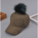 wholesale Headgear: Velvet cap with pompom Military CZ13Z