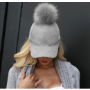 wholesale Headgear: Velvet cap with tassel Gray CZ13SZ