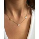 Stainless steel surgical necklace gold NST925