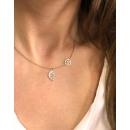 Surgical steel necklace gold leaf NST926