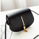 Großhandel Taschen & Reiseartikel: Mini schwarze Lederhandtasche T184CZ-M
