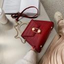 Handtasche mit rotem Leder T185CZE