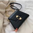 Black leather handbag T185CZ