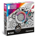 3D Color Therapy Puzzle 500 Pieces Puzzle Flowers