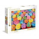 500 Pieces Puzzle High Quality Colorful Cupcakes