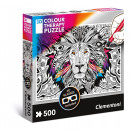 3D Color Therapy Puzzle 500 pieces Puzzle Lion