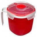 sopa microondas box 0.7l, rojo