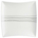 plate pres carree lines 29cm, white