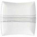 wholesale Houshold & Kitchen: plate flat square lines 26cm