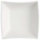 saladier lignes 24.5x24.5cm, blanc