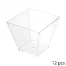 verrine x12 plastic square 6cl