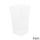 x8 plastic square 8.5cl verrine