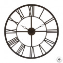 Vintage d70 brown metal clock, brown