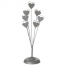 7ph heart photo holder, 2 times assorted , colors