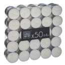 bougie chauffe-plat blanches en box x50, blanc