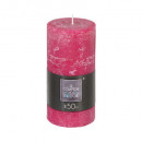 candle round rustic fusch 6.8x14, pink