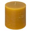 candela rotonda rustica gialla 10x10, gialla