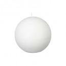 bougie boule rustic blanc d10, blanc