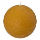 candela gialla rustica palla d10, gialla