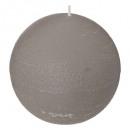 bougie boule rustic gris d10, gris
