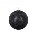 bougie boule rustic noir d10, noir