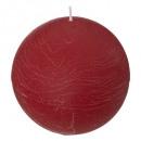 vela rústica bola roja d10, rojo