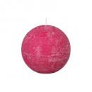 bola de vela rústica fusch d10, rosa