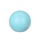 Vela bola rústica turquesa d10, azul claro