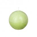 vela rústica verde bola d10, verde